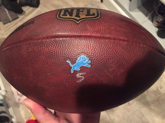 Zach Kelsey supplied this photo of the football from