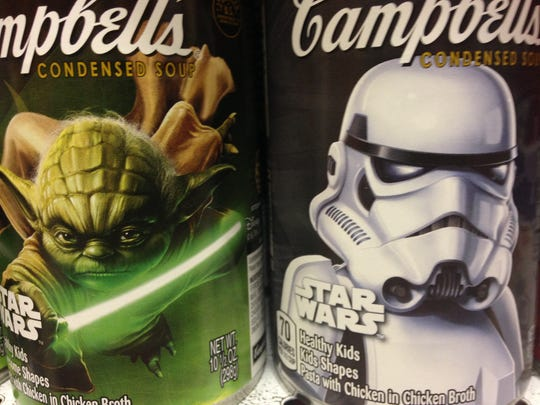 Five different limited edition Star Wars labels for