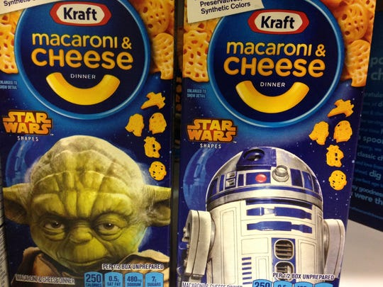 Yoda and R2-D2 join other Star Wars themed pasta shapes