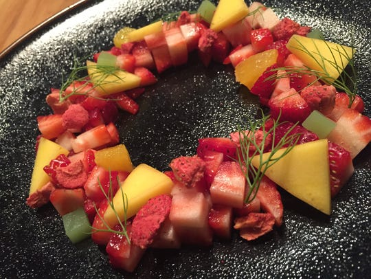 Cerulean pastry chef Peter Schmutte's artful arrangement