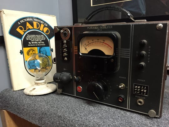 RCA Portable Amplifier OP-6 sits in the broadcast booth at American Legion Owen Coffman Post 519, Palm Springs. Nov. 18, 2015.