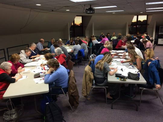 Around 50 people showed up at the Marathon County Public Library's first adult coloring book program in October.