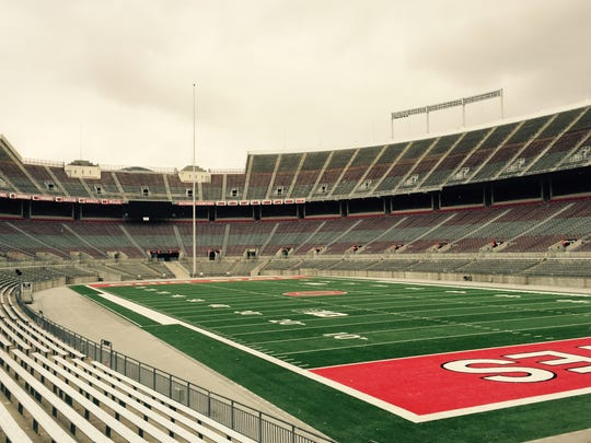 Ohio Stadium holds more than 100,000 fans on Saturdays, feeding the rabid fan culture.