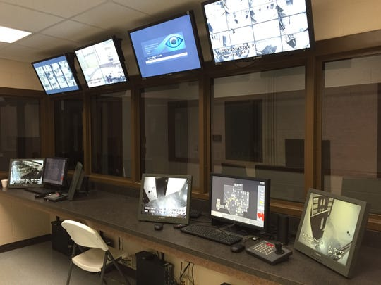 A total of 72 security cameras can be monitored in central control that will be staffed by two officers around the clock.