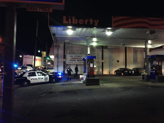 A 35-year-old man was arrested Sunday night after police say he shot a man inside a Wilmington gas station.