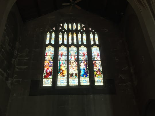 The Nativity window at Trinity Episcopal Church is Asbury Park needs to be restored.