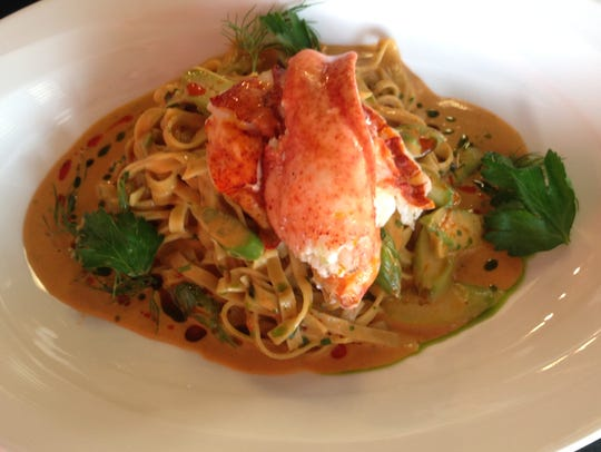 The linguine for Petar's lobster linguine is made daily at Petar's Restaurant in Bonita Springs.