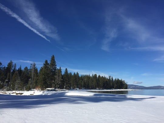 A file photo of Lake Tahoe during the winter.