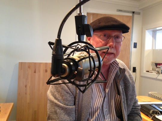 Bruce Stasi discusses his radio project Tuesday at