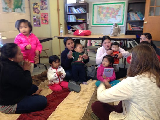 The Mommy and Me literacy program helps mothers and