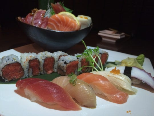 Sushi and sashimi platter for one at Wasabi Chi, $21.95