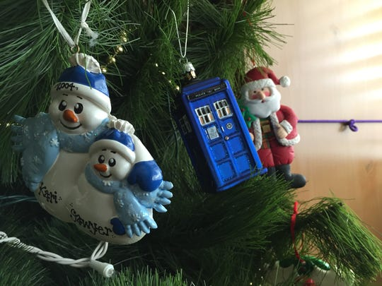 Collected over the years, the ornaments on our Christmas tree tell our story.
