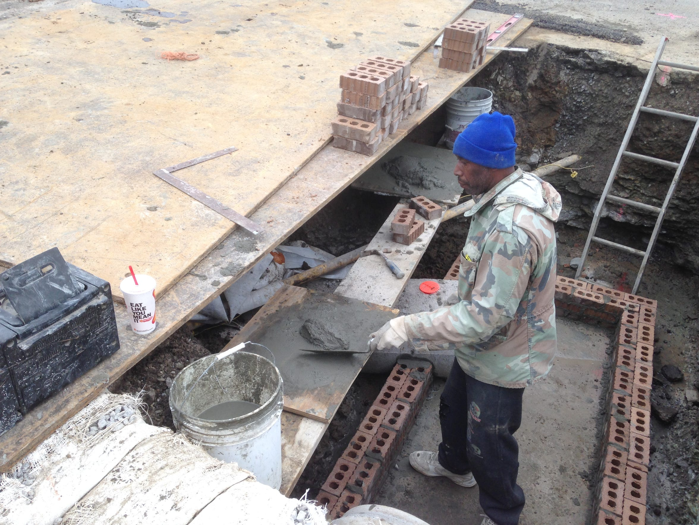 James Pope provides underground utility work for a