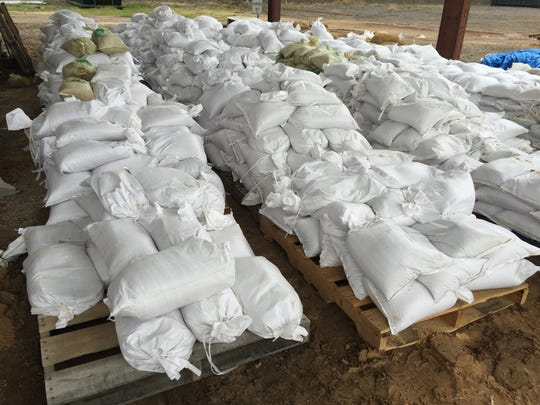 FILE PHOTO: Sandbags ready to help with high waters in south Shreveport.