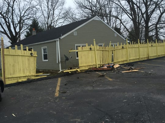 Fence between home on Hayes Avenue next to Casa Fiesta damaged after fatal car crash.