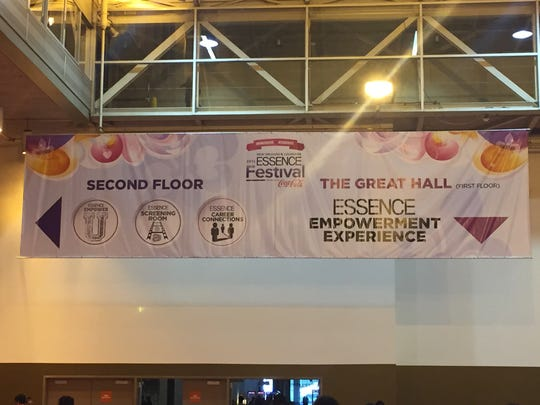 Inside the Ernest N. Morial Convention Center during