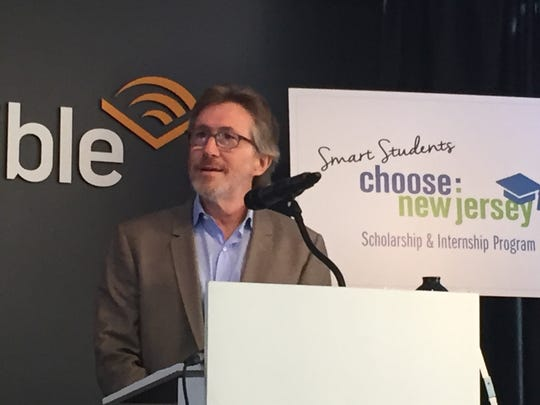 Don Katz, chief executive officer of Audible, announces a new program to retain high school graduates.