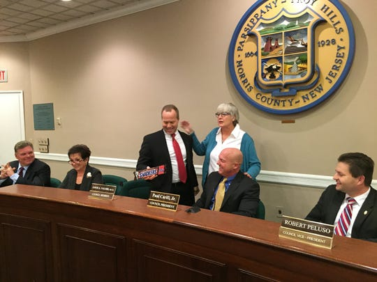 Newly-elected Parsippany Council President Louis Valori