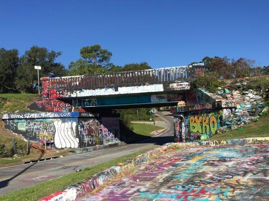 The Graffiti Bridge 5K run/walk will start and finish at the iconic Graffiti Bridge on Saturday.