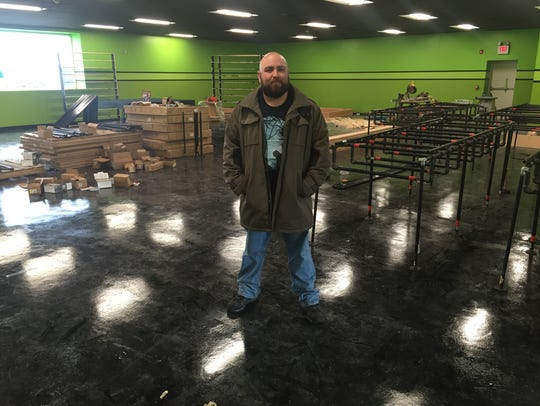 Darkside Records co-owner Roberto Hull inside the store's