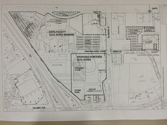 A map showing what will happen to the Expo property