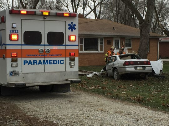 Police responded Sunday to a crash in the 2300 block
