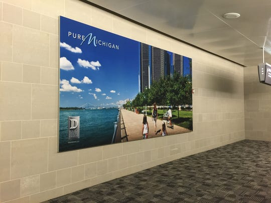 New photo mural at international arrivals will show Michigan off to international arriving passengers.