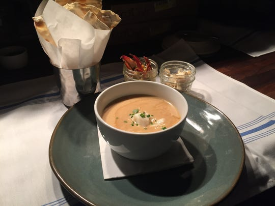 Pine Island crab bisque from The Bay House in North Naples.
