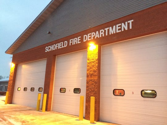 The Schofield Fire Department at dusk on Monday, January 11, 2016.