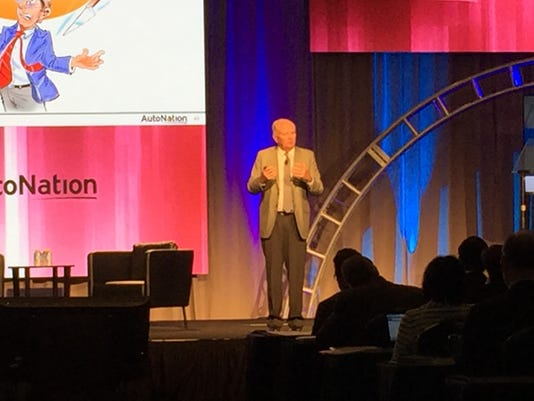 AutoNation chief Mike Jackson at industry conference