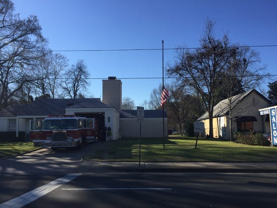 Flags are flown at half mast at fire stations throughout
