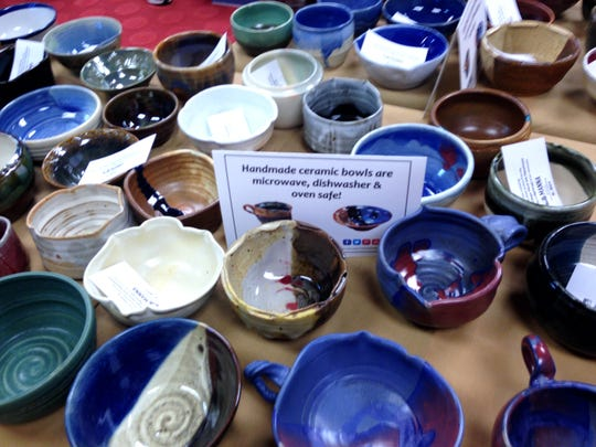 "More than 1,000 handmade bowls will be available to guests at the 9th annual ""Fill the Bowl for MANNA"" event Saturday, Jan. 16."