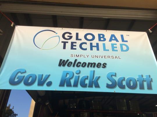 Global Tech LED welcomed Gov. Rick Scott on Friday.