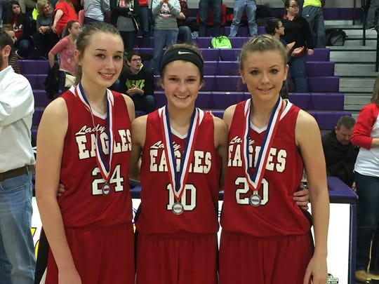 Westmoreland Middle School's all-tournament team members