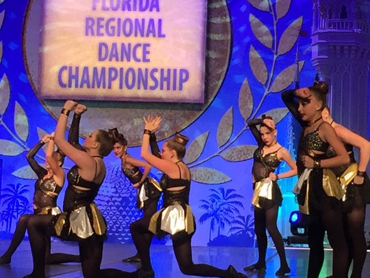Dance Mania dance troupe at the 2016 Florida Regional Dance Championship at ESPN Wide World of Sports.
