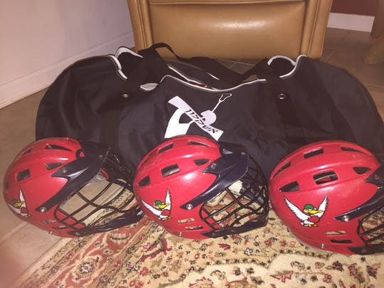 Lacrosse equipment donated by Worcester Prep to Israel