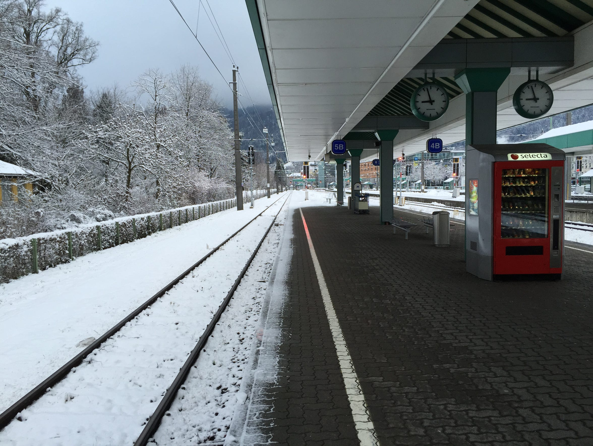 The train station at Dornbirn, Austria.