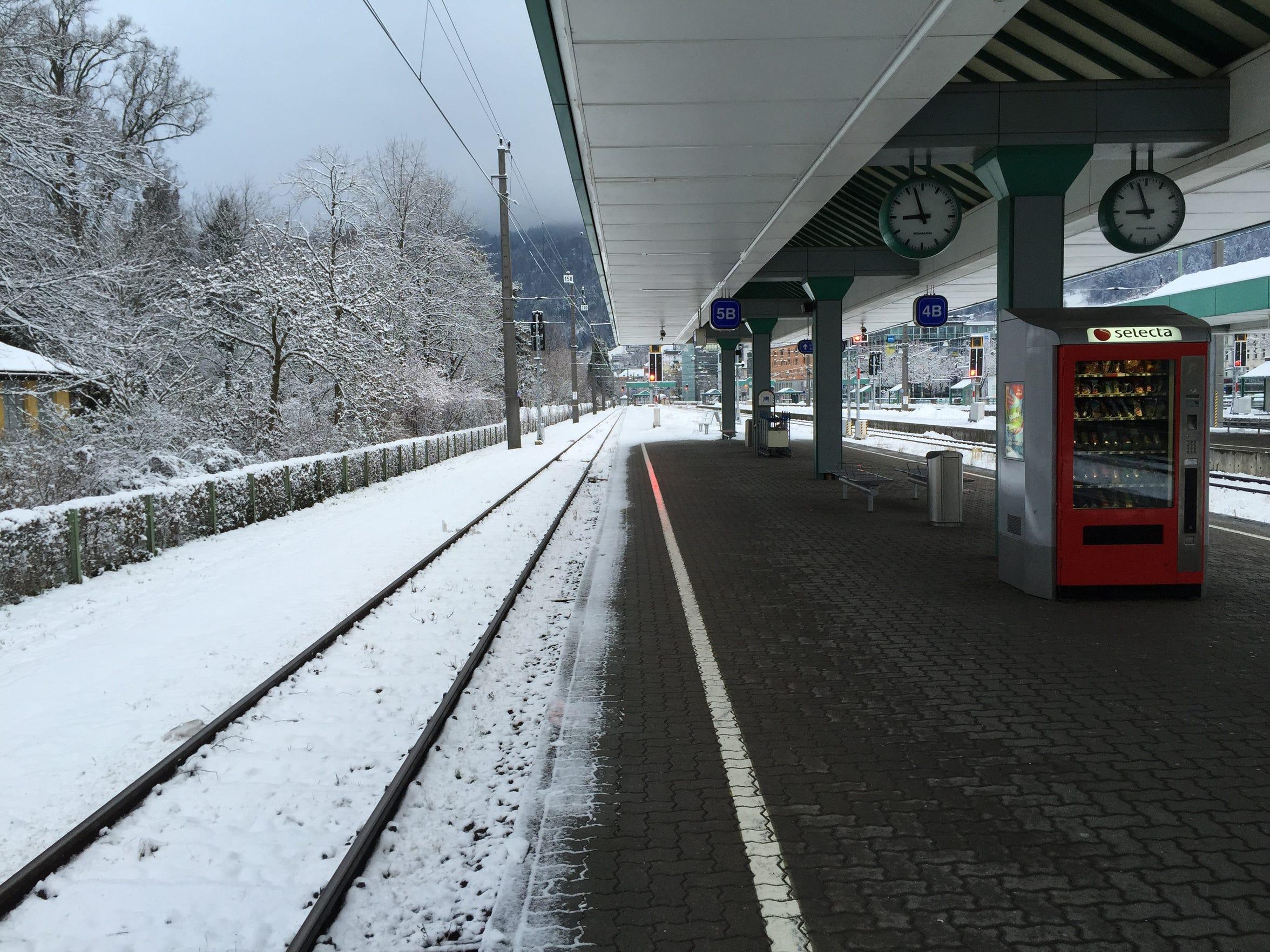 The train station at Dornbirn, Austria.