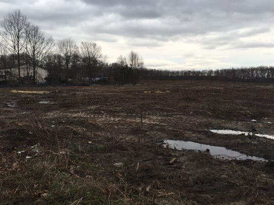 Twenty-two acres of land was cleared for a shopping