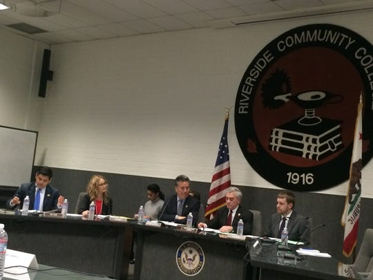 The beautiful view inside the Riverside Community College Administrative Center on Wednesday as members of a House Veterans' Affairs subcommittee met to discuss possible solutions to homelessness in Southern California and beyond.