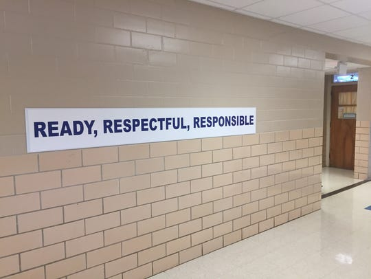 Positive messaging inside Greenacres Middle School