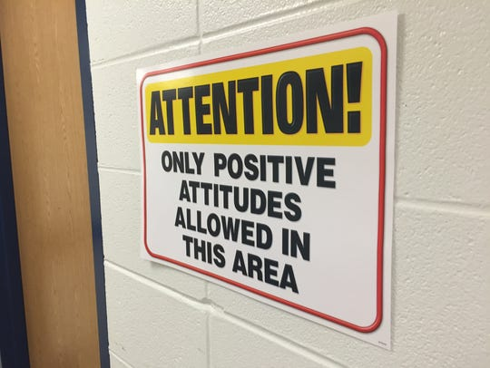 Positive messaging inside Turner Elementary School