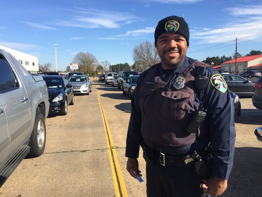 Ted Jamison, a school resource officer at Turner Elementary,