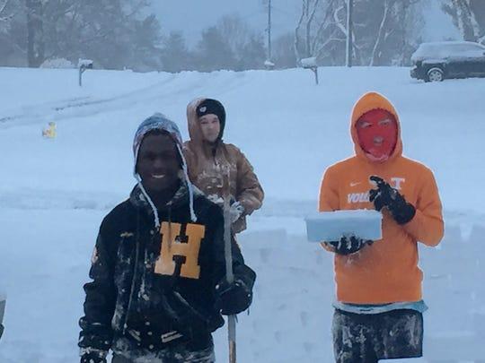 A group of Hendersonville teens spent Friday, Jan.