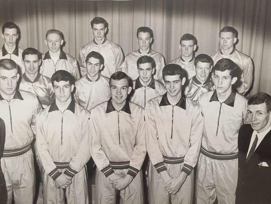 St. Rose's Bob Verga (bottom row, center) stands with