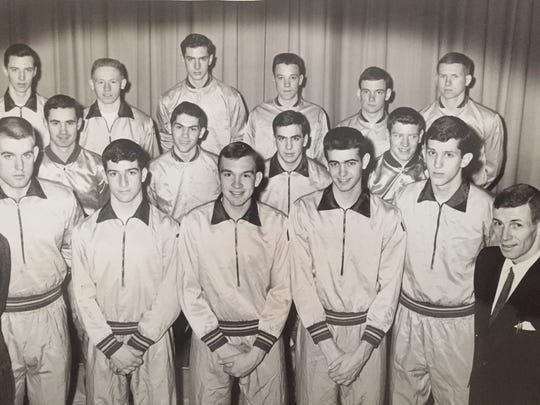 St. Rose's Bob Verga (bottom row, center) stands with his teammates in a 1962 photo.