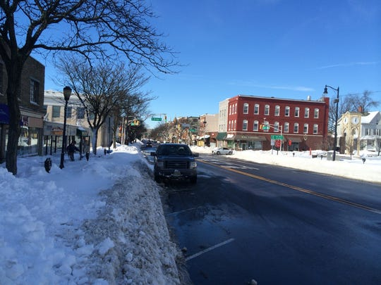 As of Sunday, downtown Somerville's roads were clear and NJ Transit buses were running.