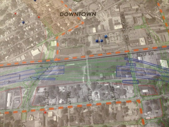Preliminary plans for I-49 near downtown Lafayette.