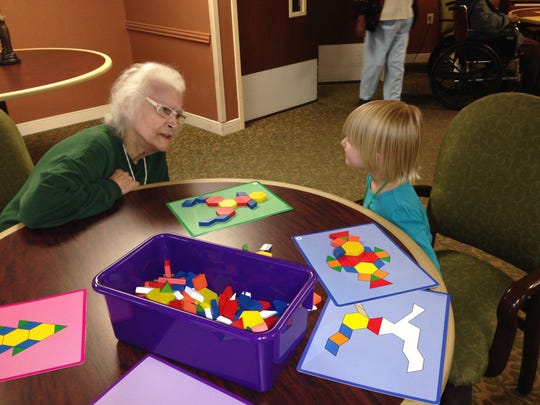 """A student interacts with his """"grandma"""" while playing"""