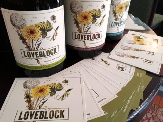 Loveblock Wines current releases include a sauvignon